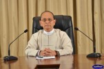 Burmese President Thein Sein during a televised address in March 2013. (Photo: President's Office website)