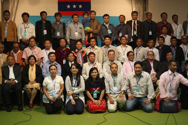 Members of the UNFC at the congress in Chiang Mai, Thailand, on Saturday. (Photo: Seamus Martov / The Irrawaddy)