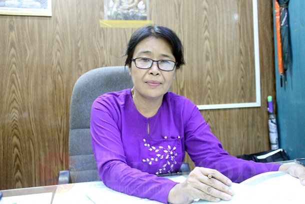 San San Yi, director of the Ministry of Education's No. 3 Basic Education Department. (Photo: Htet Naing Zaw / The Irrawaddy)