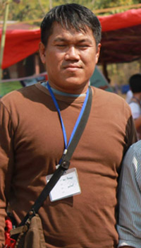 Journalist Aung Kyaw Naing. (Photo: Yamoun Nar / Facebook)