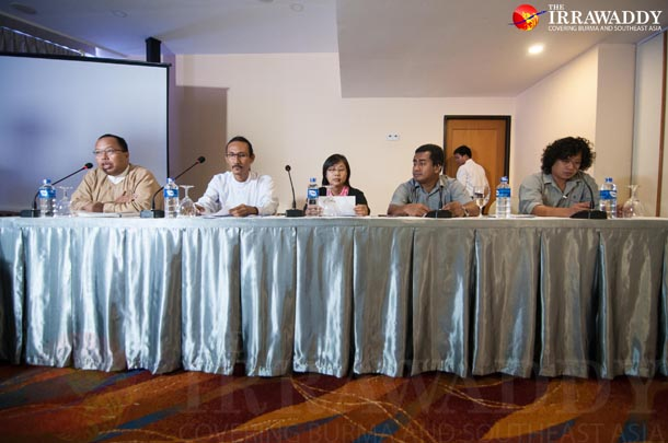 Civil society stakeholders met in Rangoon from Oct. 11-13 to discuss implementation of the Extractive Industries Transparency Initiative. (Photo: Sai Zaw / The Irrawaddy)