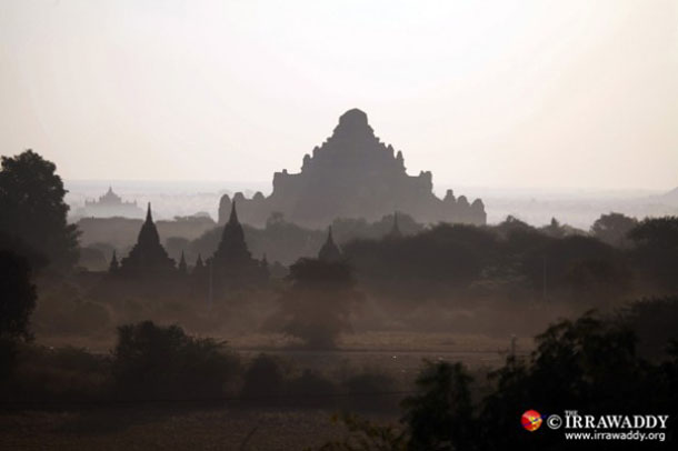 Bagan is an ancient city that flourished between the 9th and 13th century. Some 2,000 temples remain scattered among the arid hills of central Burma today. (Photo: The Irrawaddy)