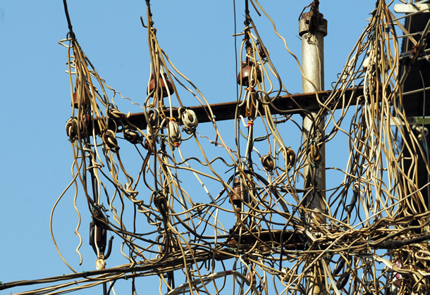 The body responsible for maintaining Rangoon's antiquated electricity network is seeking private investment to help modernize its infrastructure. (Photo: Steve Tickner / The Irrawaddy)
