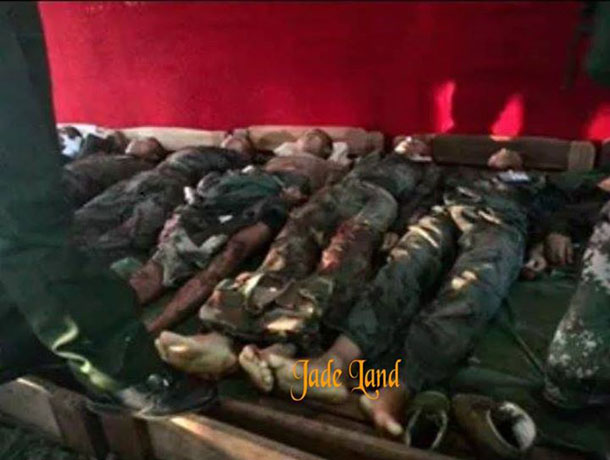 KIA sources say 22 Kachin soldiers were killed by artillery fire launched by the Burma Army on Wednesday, Nov. 19, 2014. (Photo: Jade Land Kachin / Facebook)
