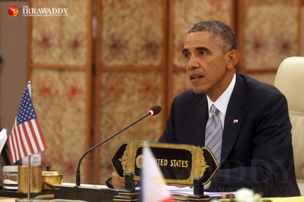 US President Barack Obama attends the 2nd Asean-US Summit in Naypyidaw on Thursday, Nov. 13, 2014. (Photo: JPaing / The Irrawaddy)