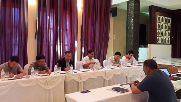 Representatives of the Nationwide Ceasefire Coordination Team and the Myanmar Peace Center during talks in Chiang Mai, Thailand, on Nov. 24. (Photo: Nyo Ohn Myint / Facebook)