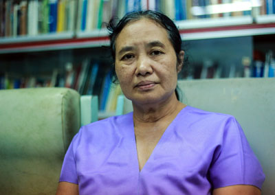 Dr. Cynthia Maung, founder, Mae Tao Clinic, Mae Sot. Winner of the Ramon Magsaysay Award and numerous other awards. (Photo: JPaing / The Irrawaddy)