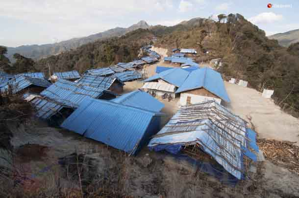 A view of the Border Post 6 camp for displaced persons, on the mountainous Sino-Burmese border that is administered by the Kachin Independence Organization. (Photo: Sai Zaw / The Irrawaddy)