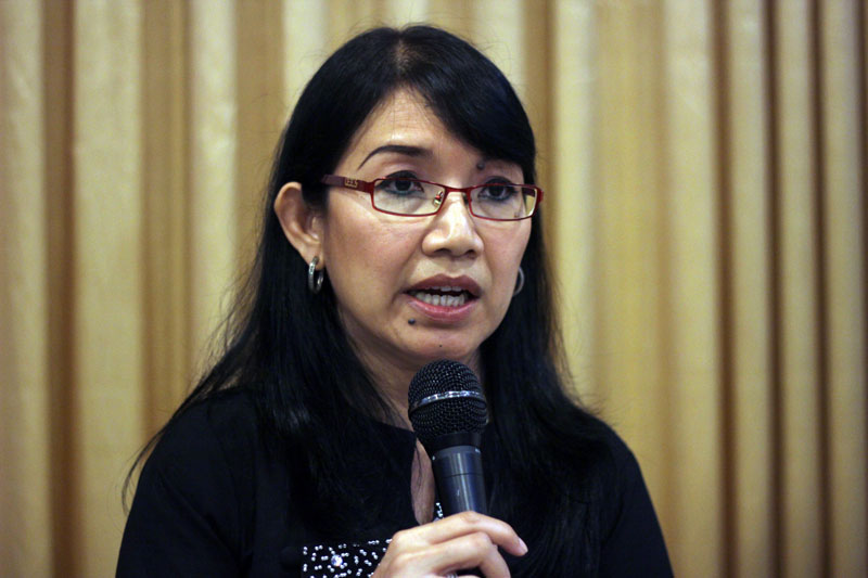 Daw Khin Ohmar, coordinator at Burma Partnership. (Photo: JPaing / The Irrawaddy)