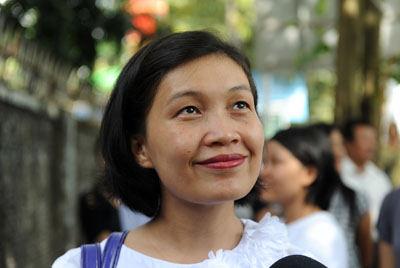 Ma May Sabe Phyu, cofounder of the Kachin Peace Network and Kachin Women's Peace Network. Director of the Gender Equality Network. (Photo: Steve Tickner / The Irrawaddy)