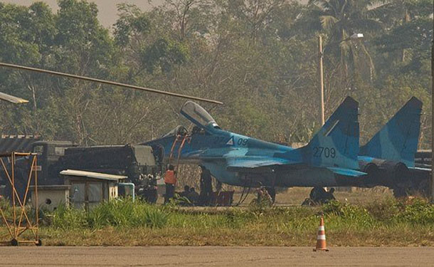 Ethnic rebels in northern Shan State say a jet fighter was used in attacks by the Burma Army on Monday. (Photo: Facebook / Ye Moe)