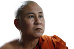 U Pandavunsa, Buddhist monk and leading figure in the 2007 Saffron Revolution. (Photo: JPaing / The Irrawaddy)