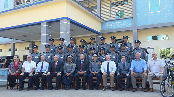 burma police force Myanmar police sit on the roof of a truck carrying local un staff who  myanmar  security forces against rohingya communities in rakhine state.