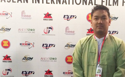 Director Wera Aung is pictured at the Asean International Film Festival and Awards (AIFFA) in Malaysia earlier this month. (Photo: Facebook / Wera Aung)