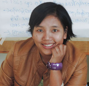 Cheery Zahau is a human rights activist from Chin State. (Photo: Cheery Zahau)