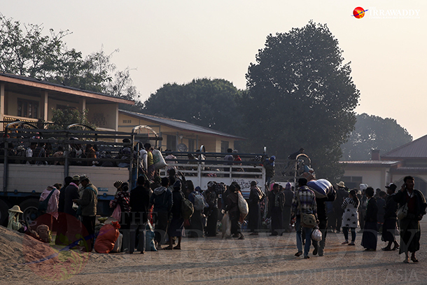 War victims who arrived in Lashio, Shan State, from the Kokang Special Region in February. (Photo: JPaing / The Irrawaddy)