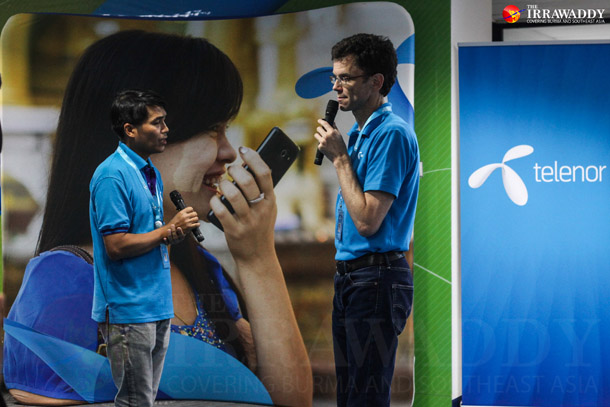Petter Furburg, Burma Chief Executive Officer-Designate for Telenor(R), speaks during the launch Telenor's services at the company'sRangoon headquarters in September. (Photo: JPaing / The Irrawaddy)