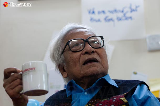 Win Tin, one of Burma's most famous democracy activists, passes away on Monday, April 21, 2014, at the age of 84. (Photo: Sai Zaw / The Irrawaddy)