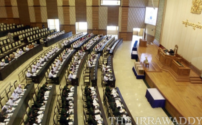 Lawmakers in Burma's Parliament convene a legislative session in Naypyidaw. (Photo: The Irrawaddy)