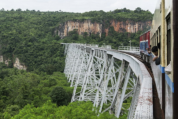 Japanese industry giants Mitsubishi Corporation and Hitachi Ltd have won a $20 million contract to upgrade signaling on the railway line between Rangoon and Naypyidaw. (Photo: Teza Hlaing / The Irrawaddy)