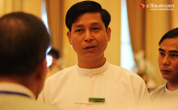 President's Office Director Zaw Htay. (Photo: The Irrawaddy)