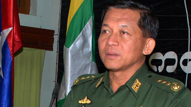 Snr-Gen Min Aung Hlaing speaking during a meeting with officials at Kalaw, southern Shan State, April 2011. (Photo: The Irrawaddy)