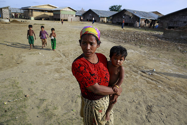 Roshida, a 25-year-old widow who was released from a human trafficking ship, is seen at a refugee camp outside Sittwe in Arakan State on May 20, 2015. (Photo: Reuters)