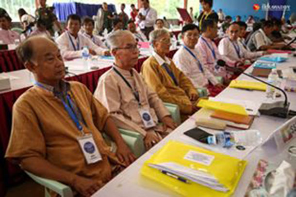 Delegates at the ethnic summit at Law Khee Lar on Thursday. (Photo: Thaw Hein Htet)