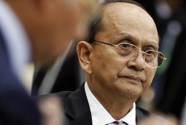Burma's President Thein Sein attends a session of the 21st Asean and East Asia summits in Phnom Penh in 2013. (Photo: Reuters)
