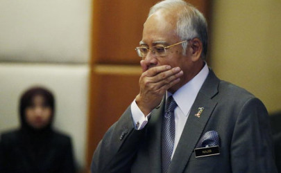 Malaysia's Prime Minister Najib Razak at his office in Putrajaya earlier this month. Najib has denied taking any money from 1MDB or any other entity for personal gain. (Photo: Olivia Harris / Reuters)