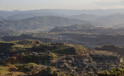 A panoramic view of Hpakant, Kachin State, in March 2014. (Photo: JPaing / The Irrawaddy)
