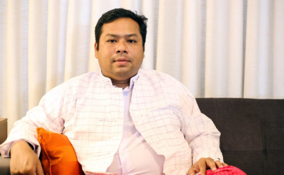 Min Banyar San hopes business expansion in Mon State can help improve the quality of life. (Photo: The Irrawaddy)