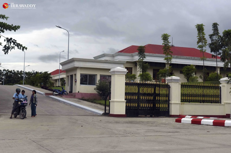 Government office building No. 37 located on a quiet corner of Yaza Thingaha Road in Burma's capital Naypyidaw. (Photo: JPaing / The Irrawaddy)