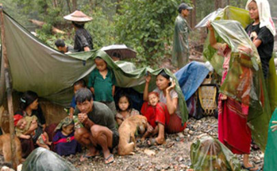 Victims of Karen State's ethnic conflict are pictured in this 2011 photograph. (Photo: Free Burma Rangers)