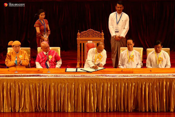 Long Sought Ceasefire Signed In Naypyitaw