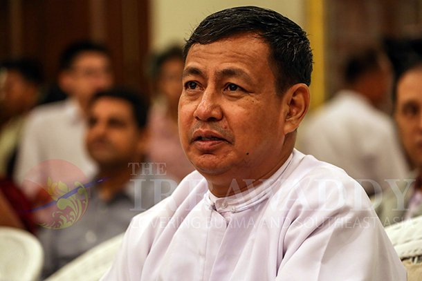 Minister of Information and spresident's spokesperson Ye Htut. (Photo: The Irrawaddy)