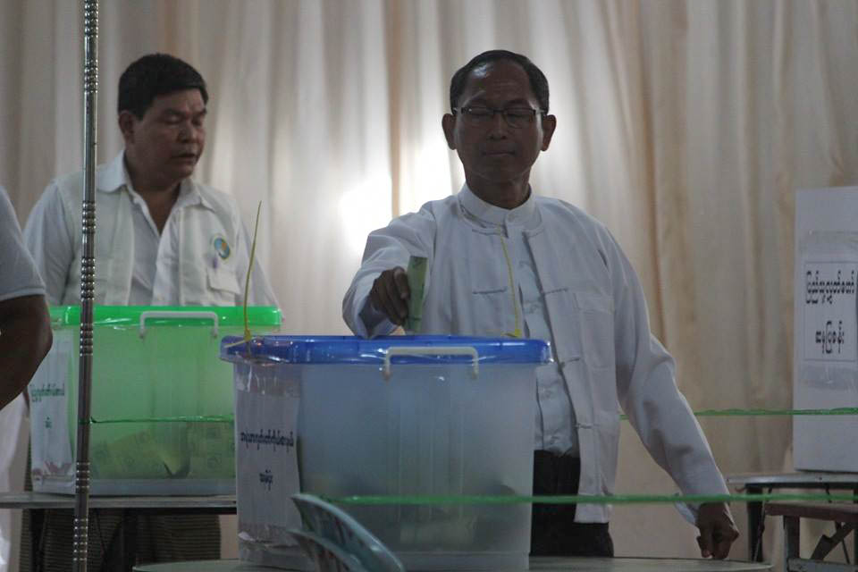 Ko Ko Gyi votes on Nov. 8