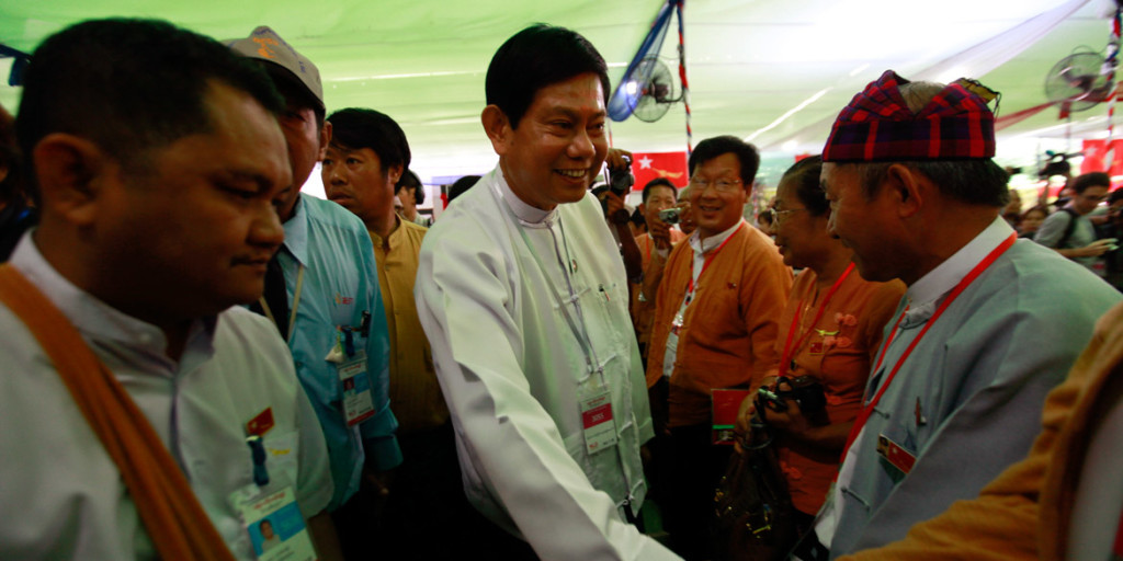 Htay Oo at the NLD congress in Rangoon, 2013 (Photo: Soe Zeya Tun / Reuters)