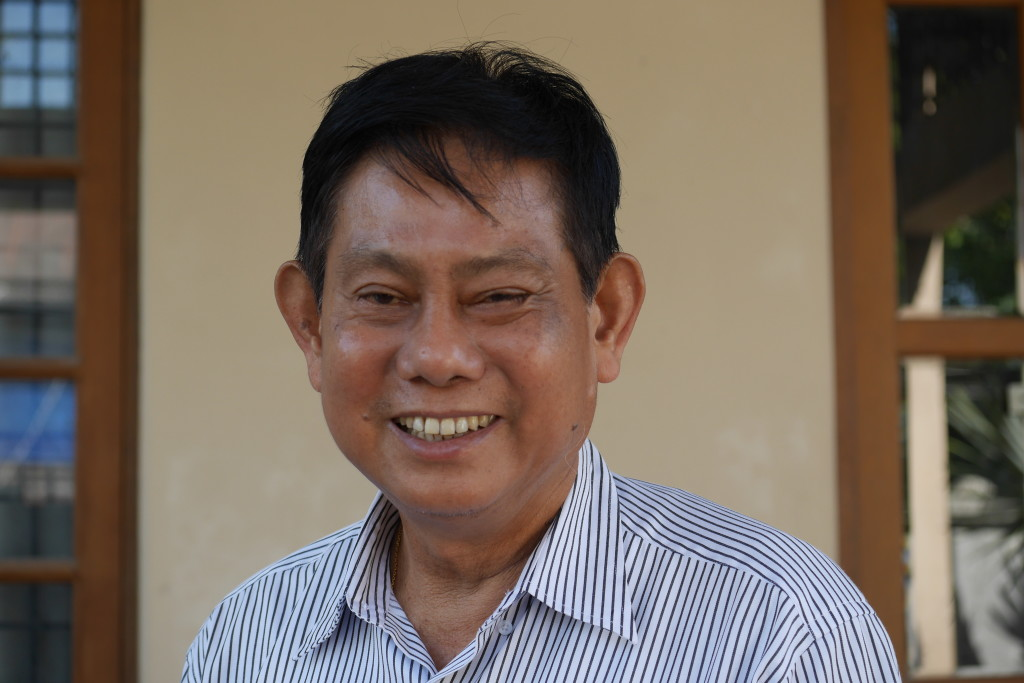 USDP chairman Htay Oo at his home in Hinthada this morning. (Photo: Tin Htet Paing / The Irrawaddy)
