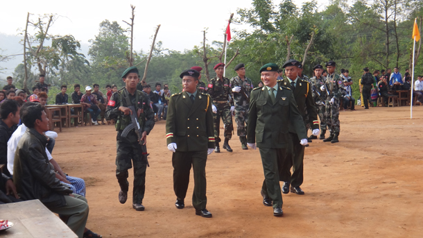 The Arakan Army's 5th anniversary celebrations in Laiza, Kachin State, April 2014. (Photo: Moe Myint / The Irrawaddy)