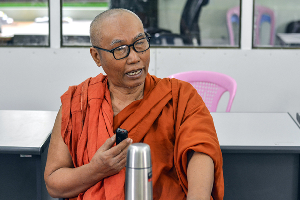 Sayadaw U Nayaka, principal of the Phaung Daw Oo school. (Photo: Teza Haing / The Irrawaddy)