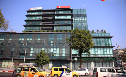 Singapore's OCBC Bank in Rangoon.  (Photo: Myo Min Soe / The Irrawaddy)