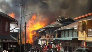 Huge Blaze Razes Hundreds of Homes in Shan State's Namhsan