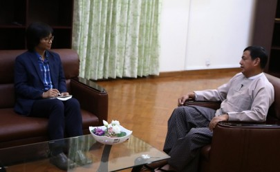 The Irrawaddy speaks with Minister of Information Ye Htut about President Thein Sein's five-year tenure and the media's role in the country. (Photo: Myo Min Soe / The Irrawaddy)