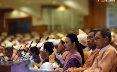 Lower House lawmakers attend Parliament during the new chamber's first week on Feb. 4, 2016. (Photo: JPaing / The Irrawaddy)