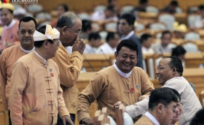 NLD lawmakers at the Union Parliament assembly on February 9, 2016. (Photo: J Paing / The Irrawaddy)