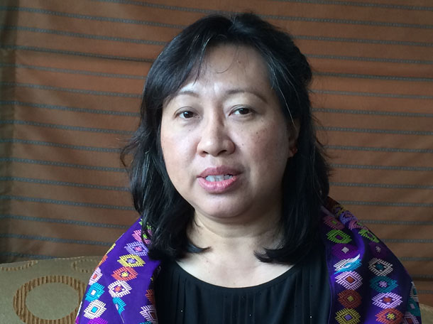 Ja Nan: Ja Nan Lahtaw, director of the Myitkyina-based Nyein Foundation and technical advisor to Burma's peace process. (Photo: Nyein Nyein / The Irrawaddy)