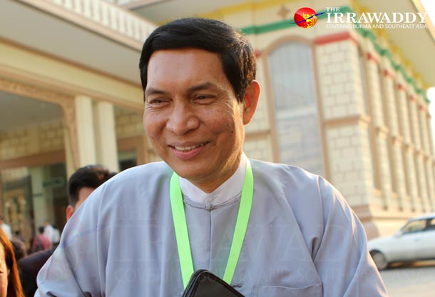 Khin Maung Cho (Minister for Industry)(Photo: Myo Min Soe /The Irrawaddy)