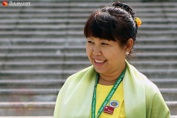 Ma Thandar: Ma Thandar, co-founder of the Women and Peace Network and Lower House lawmaker. (Photo: The Irrawaddy)