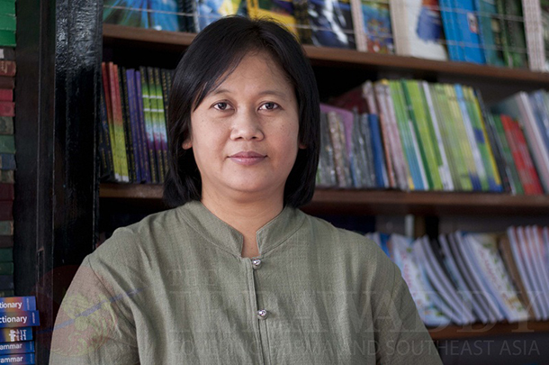 NilarThein, women's rights and development activist and current political prisoner. (Photo: SaiZaw / The Irrawaddy)